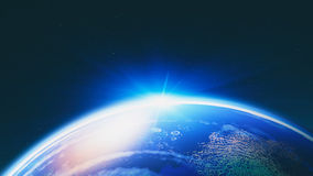Blue planet. Abstract science backgrounds for your design Stock Photo