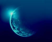 Blue planet 3d illustration in universe concept Stock Image