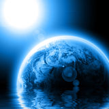 Blue planet earth Royalty Free Stock Images