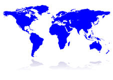 Blue planet earth. Blue planet, continents, background, world, vector royalty free illustration