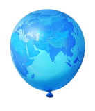 Blue planet Earth balloon. Blue planet Earth world balloon isolated on white background stock illustration