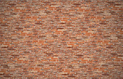 Blue Planet Earth with clouds, America, USA path of global World. Old dark brown and red brick wall, stone work for texture and background Stock Images