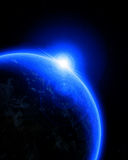 Blue planet earth in outer space Stock Photo
