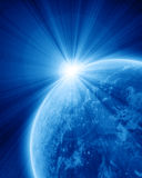 Blue planet earth in space Royalty Free Stock Image
