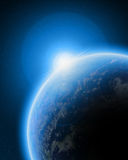 Blue planet earth in space Royalty Free Stock Photo