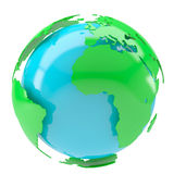 Blue planet with green continents Stock Photos
