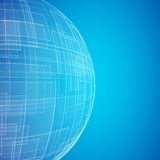 Blue planet icon Royalty Free Stock Image