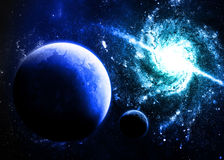 Blue Planet. Image of a blue planet in space Stock Photo