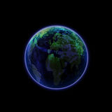 Blue Planet Isolated Royalty Free Stock Photography