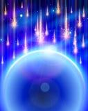Blue Planet & Meteor rain. Blue Planet and Meteor rain Stock Photo
