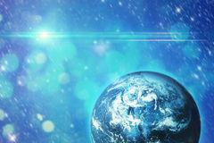 Blue planet in space. Background of space scene with planet Royalty Free Stock Images