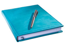 Blue daily planner Royalty Free Stock Photography