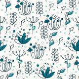 Blue plant pattern Stock Image