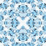 Blue plants on a light background wallpaper vector illustration Stock Photos