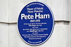 Blue plaque in Swansea for Pete Ham Royalty Free Stock Image