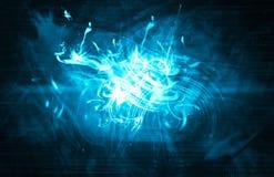 Blue Plasma Background Stock Images