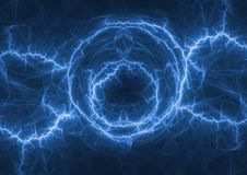 Blue plasma lightning bolt Stock Photo