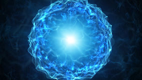 Blue plasma sphere with energy charges Royalty Free Stock Photography