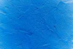 Blue plastered wall background Stock Photos