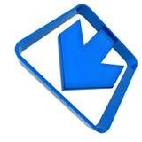 Blue plastic arrow Royalty Free Stock Photography