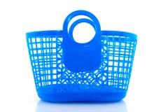 Blue plastic bag Stock Images
