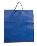 Blue plastic bag royalty free stock photos