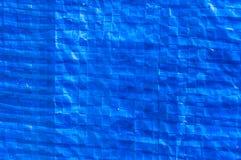 Blue plastic bag . Blue plastic bag close up Stock Photo