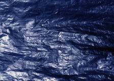 Blue plastic bag texture Stock Images