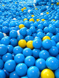 Blue plastic balls Royalty Free Stock Images
