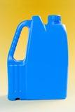 Blue plastic barrel Stock Images