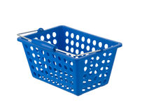 Blue plastic basket Stock Image