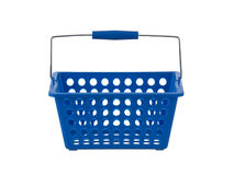 Blue plastic basket front view Royalty Free Stock Image