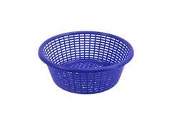 Blue plastic basket Royalty Free Stock Photography