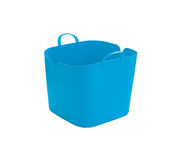Blue plastic basket Stock Photos