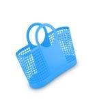 Blue plastic basket Stock Images