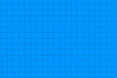 Blue Plastic Board With Dotted Line Like As Graph Paper Stock Photo