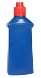 Blue plastic bottle cleaning-detergent. Royalty Free Stock Photography