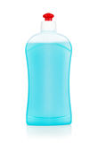 Blue plastic bottle cleaning Royalty Free Stock Images