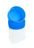 Blue plastic bottle lids Stock Image