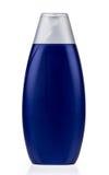 Blue plastic bottle with shampoo isolated on white Stock Image