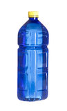 Blue plastic bottle for water isolated on white Stock Photo