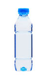 Blue plastic bottle of water isolated on white Stock Images
