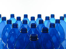 Blue plastic bottles Stock Image
