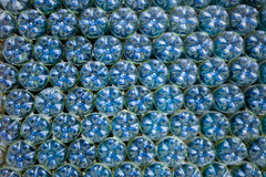Blue plastic bottles Stock Image
