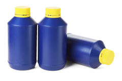 Blue Plastic Bottles Royalty Free Stock Images