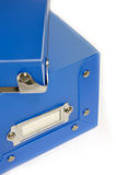 Blue Plastic Box. Blue Box on white background Royalty Free Stock Photography