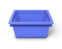 Blue plastic box for toys Royalty Free Stock Images