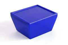 Blue plastic box Royalty Free Stock Photo