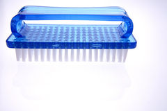 Blue plastic brush Stock Photo