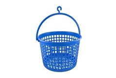 Blue plastic bucket royalty free stock photo